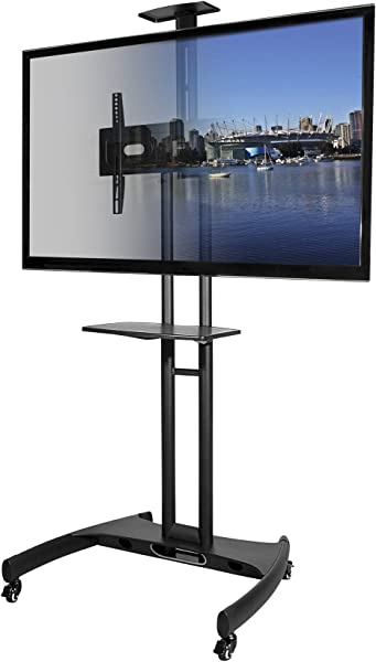 Kanto MTM65PL Mobile TV Stand With Mount For 37 To 65 Inch Flat Panel Screens Black