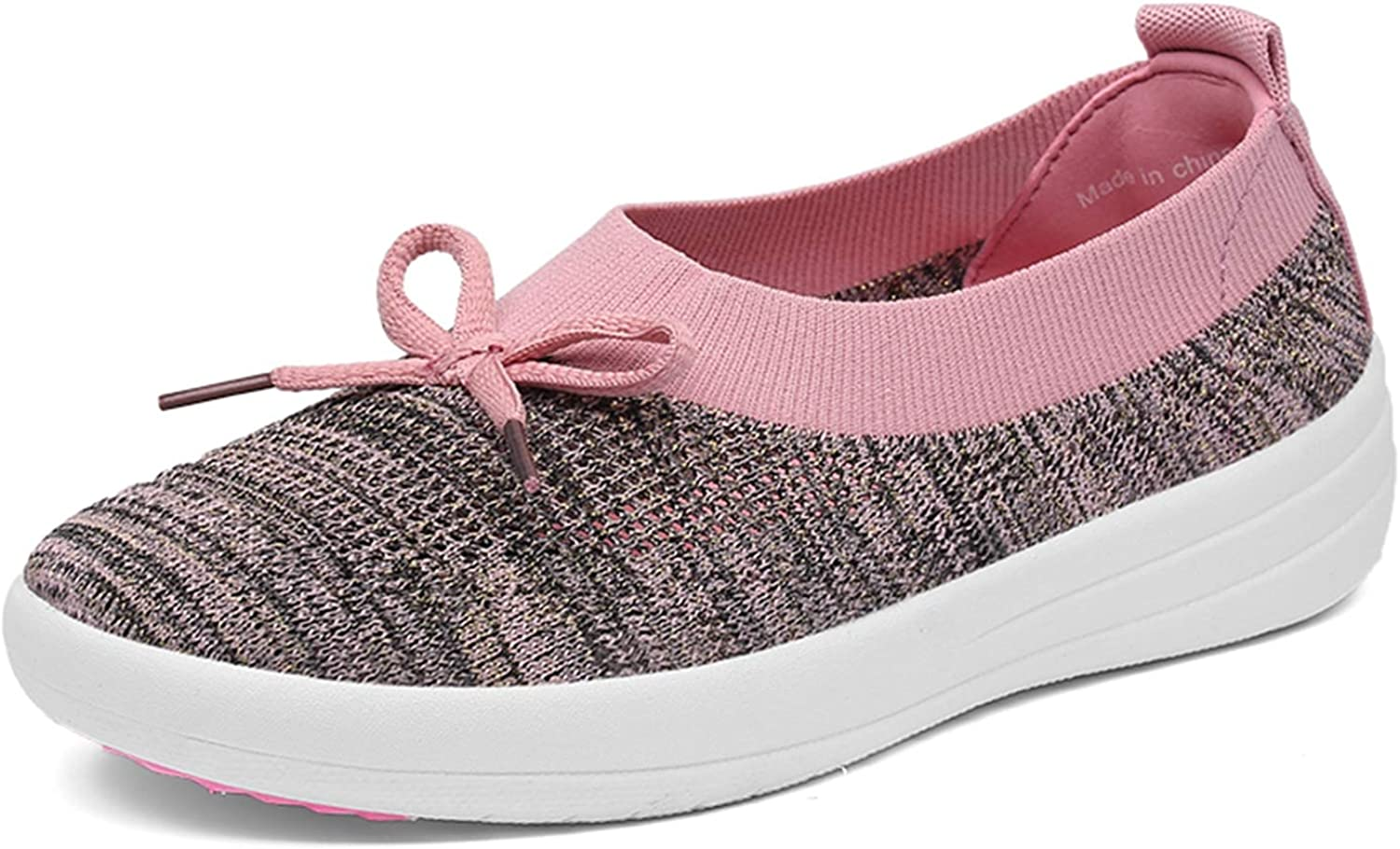 Zomine Women's Casual Fly Woven Driving Loafers Slip On Bowknot Moccasins Flat shoes