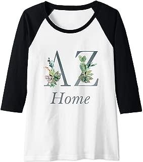Womens Arizona Home Roots Pride Cactus Lover Proud State Map AZ Raglan Baseball Tee