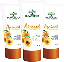 INWOOD ORGANICS De-Tan Apricot Face Scrub - 60 ml Pack of 3 (Paraben Free), 60 ml (Pack of 3)