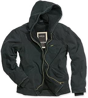 Surplus Raw Vintage Men's Stonesbury Winter Jacket with hood & tedy lining, black, XL