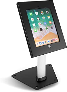 Pyle PSPADLK12 Tamper-Proof Anti-Theft iPad Kiosk Safe Security Desk Table Stand, Holder, Public Display Case with Cable M...