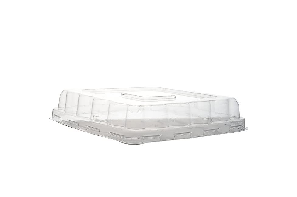 Conserveware 7 Inch Dome Lid for Square Bowls, 75 Count (Pack of 4)