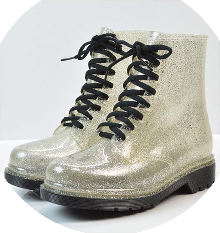 FAT BABY Women Rain Boots Transparent Waterproof colorful shoes Rain Boot Woman Leopard Print Ankle Boots Large Size 40