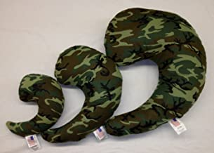 product image for NuAngel Greenbow Support Pillows - (Small, Medium, Large) - Made in USA! (Green Camo)