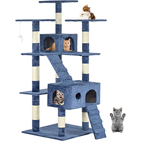 90cm Cat Scratch Posts 3 Tier Stable Cat Climbing Tower Cat Activity Trees with 1 Room HOMIDEC Cat Tree Indoor Pet Activity Furniture Play House for Kitty Kitten