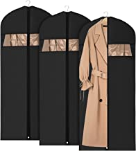 Univivi Garment Bag Suit Bag for Storage and Travel 60 inches, Anti-Moth Protector, Lightweight Study Full Zipper Washable Suit Cover for Dresses, Suits, Coats, Set of 3