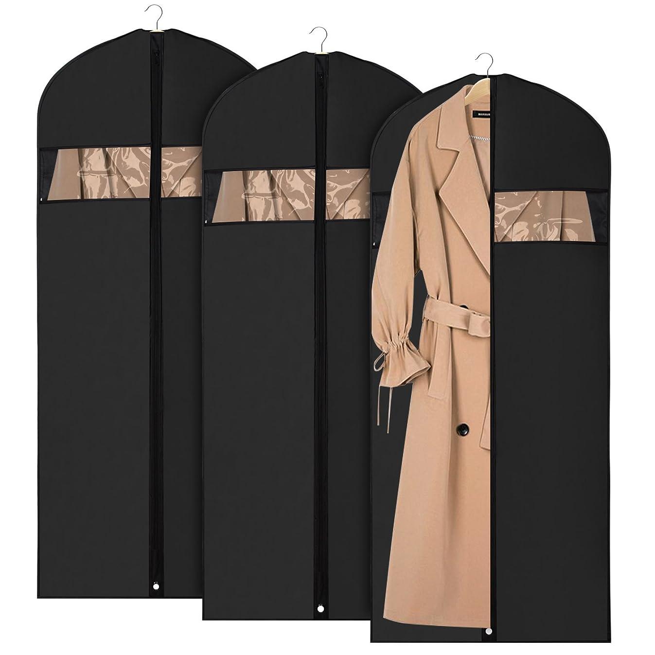 Univivi Garment Bag Suit Bag for Storage and Travel 60 inch, Washable Suit Cover for Dresses, Suits, Coats, Set of 3