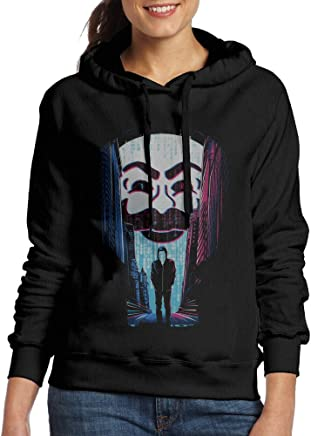 Curcy Mr. Robot A ONE OR A ZERO Hoodie Hooded Sweatshirt WomenSports Black