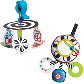 Manhattan Toy Wimmer Ferguson Infant Stim Mobile To Go and Sights and Sounds Baby Travel Toy Set