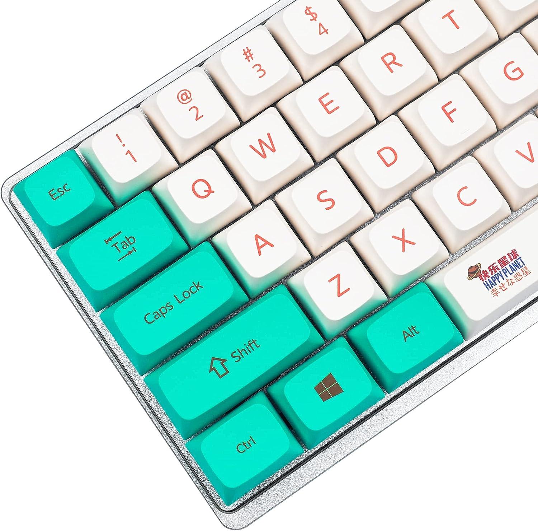 Popular overseas PBT Cute keycaps ZDA Similar to XDA Planet Dye Sale SALE% OFF Happy Keycap Sub