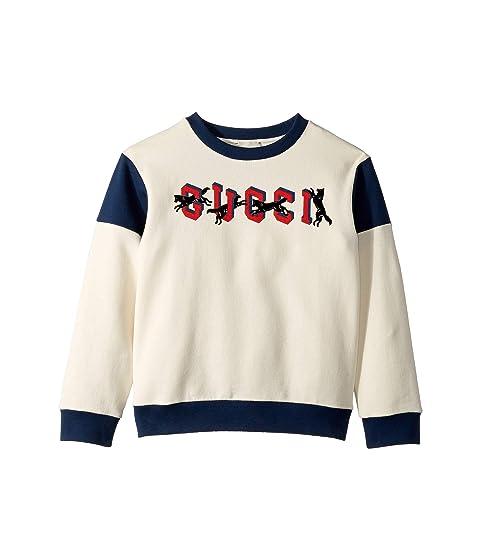 Gucci Kids Flock Print Sweatshirt (Little Kids/Big Kids)