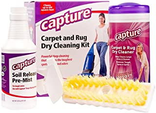 Capture Carpet Dry Cleaning Kit 100 - Deodorize Clean Stains Smell Moisture from Rug Couch Wool and Fabric, Pet Stain Odor...