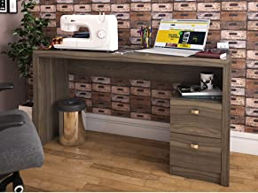Tecnomobili Office Table with 2 Drawers, Oak 74.5 x 135.8 x 46.5 cm