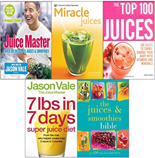 Juice master keeping it simple, new pyramid miracle, top 100, 7lbs in 7 days super diet, smoothies bible 5 books collection set
