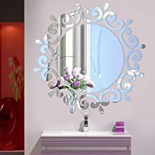 Arabest Mirror Wall Sticker, Removable Acrylic Sun Flower Round Mirror Wall Decal New Design for Living Room Bedroom Bathr...