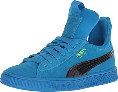 PUMA unisex-kids Suede Fierce Patent Block Jr Sneaker