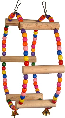 TAIYO PLUSS DISCOVERY Birds Toys/Swing with Colourful Beads/Suitable for All Small & Medium Size Birds/Size (L-24.5cm...