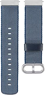 MOTONG 18mm Compatible for Nokia Withings Steel HR(36mm) Replacement Band - MOTONG Nylon Replacement Wrist Band Strap for Nokia Withings Steel/HR(36mm), Nokia Steel/HR(36mm) (Nylon Blue)