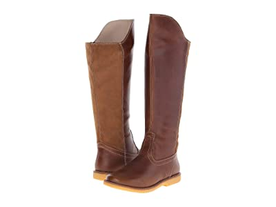 Elephantito Color Block Tall Boot (Toddler/Little Kid/Big Kid) (Brown) Girls Shoes