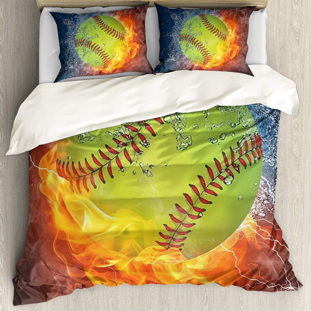 INSTANTARTS Water New life Tucson Mall and Fire Softball Ball Piece Print 3 Bedd Soft