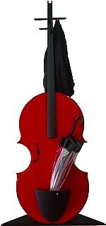 """Perchero y paragüero""""Concerto"""" en madera lacada."""
