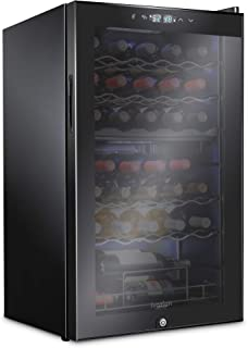 Ivation 33 Bottle Dual Zone Wine Cooler Refrigerator w/Lock | Large Freestanding Wine Cellar For Red, White, Champagne & S...