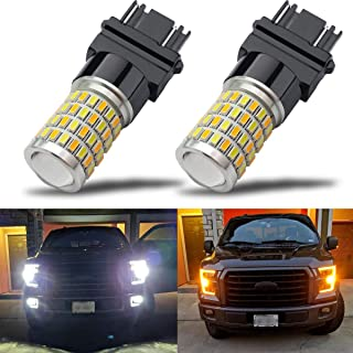 iBrightstar Newest Super Bright 3157 4157 3155 3457 Switchback LED Bulbs with Projector Replacement for Daytime Running Li...