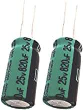 820uF 25V Electrolytic Capacitor (10x20mm) with Operating Temperature Range from -40 to +105 Degrees (10-Pack)