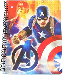 Innovative Design 101 Marvel The Avengers Age of Ultron Wide Ruled Spiral Notebook ~ Captain America Ready for Battle (8