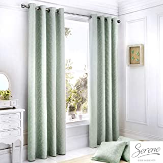 Serene Ebony - Remolque Floral, Tela, Azul Pastel, Curtains: 66