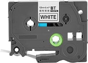 Gelamineerde tape, 8 m draagbare waterdichte oliebestendige zwart op wit gelamineerde labeltape, voor PVC-behuizing, krimp...