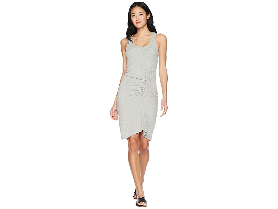 Splendid Shirred Dress (Heather Grey) Women