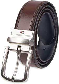 Reversible Leather Belt - Casual for Mens Jeans with...