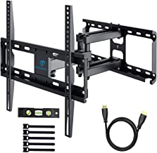 PERLESMITH TV Wall Mount Bracket Tilts, Swivels, Extends - Full Motion Articulating TV Mount for 26-55 Inch LED, LCD, Plasma Flat Screen TVs up to 99lbs Max VESA 400x400