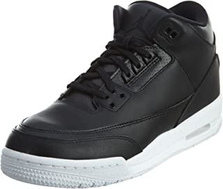 Jordan Nike Kids Air 3 Retro Bg Black/Black White Basketball Shoe 4.5 Kids US