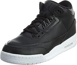 Nike Air Jordan 3 Retro Bg Boys Basketball-Shoes 398614-020_6Y - Black/Black White