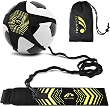 BROTOU Football Kick Trainer Soccer Solo Skill Practice Training Aid for Kids Youth Adult Universal Fits Size 3, 4, 5 Footballs and Volleyball