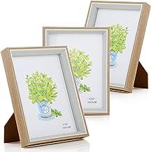 "Simpeak 3 Pieces 6"" Photo Frames, 6""x 4"" Deep Photo Frames with Vertical/ Horizontal Angle Bracket, A6 Size 15* 10cm Pictu..."