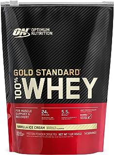 OPTIMUM NUTRITION sports nutrition whey protein powders, Vanilla Ice Cream, 1 Pound