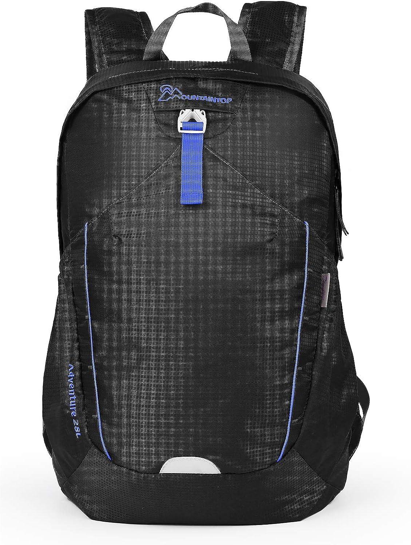 MOUNTAINTOP Mochila plegable unisex 28L Mochila ligera impermeable mochila de senderismo ultraligera mochila de marcha plegable mochila para deportes al aire libre senderismo bici viajes acampada