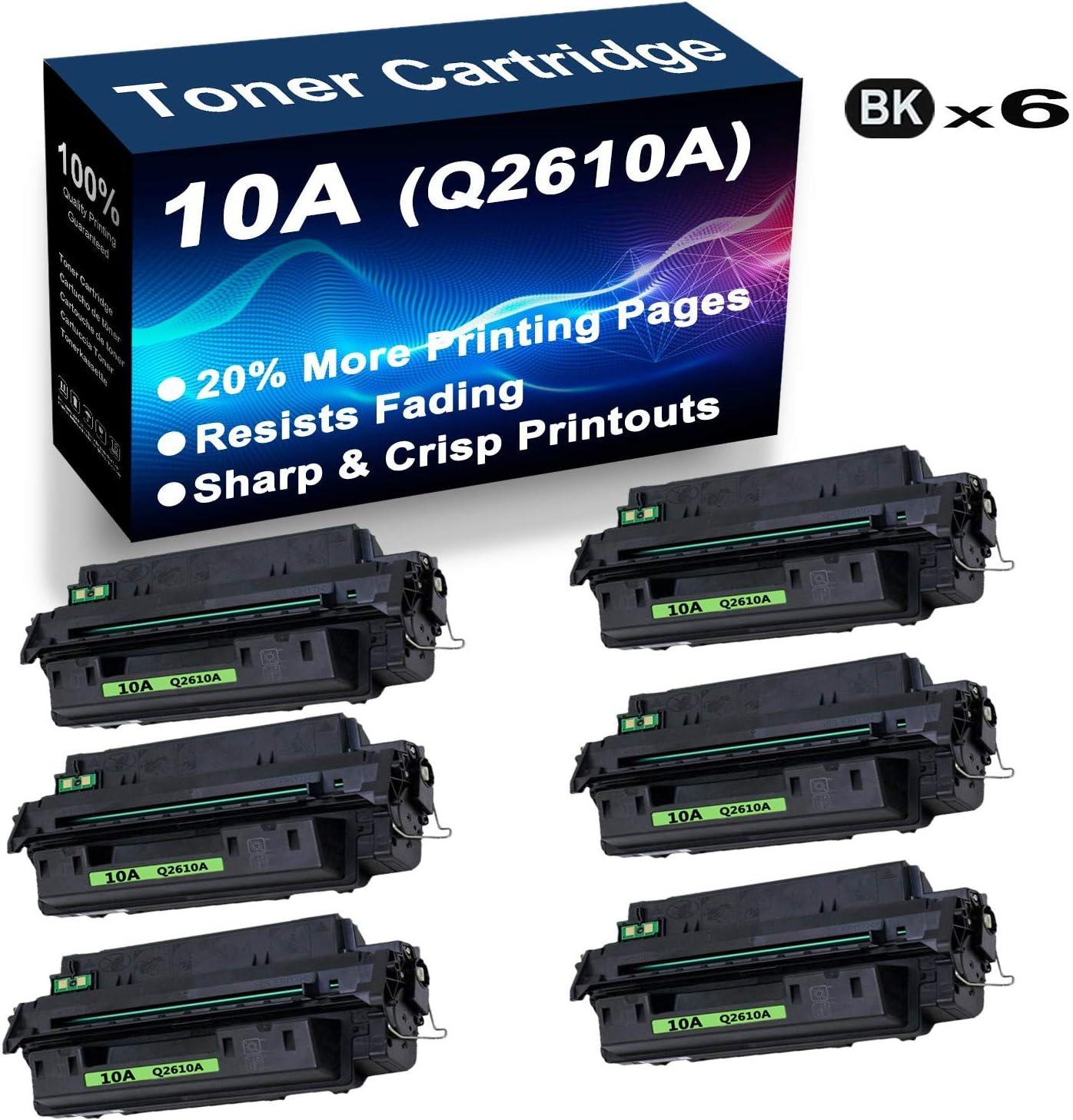 6-Pack (Black) Compatible High Yield 2300. Printer Toner Cartridge for HP Laserjet 2300 Printer