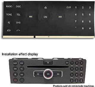 2Pcs Radio Button Sticker Repair For 2007-2014 Mercedes Benz W204 C250 C300 C350 E-Class ML GL GLK Audio Dash Replacement Decals