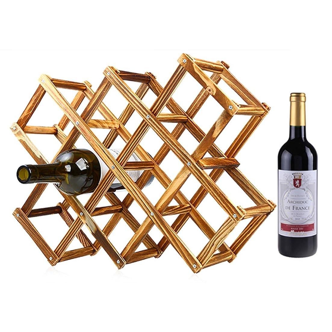 コカインパーク落ち着いた【ノーブランド】木製ワインラック ワインボトルラック ワイン棚 10本用