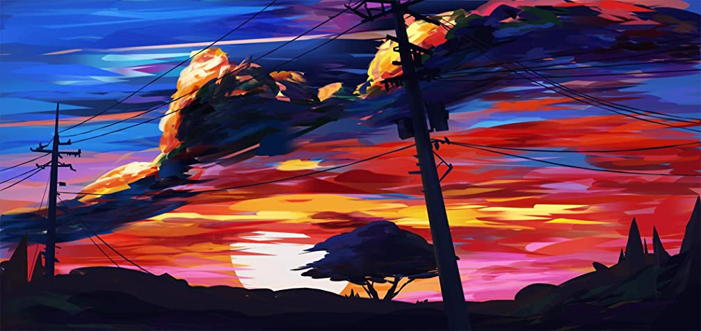 5d Diamond Painting Sunset with Embroidery Kit Full Drill Arts Craft Home Decoration for Adult Or Kid for Living Room Bedroom