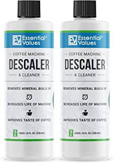 2-Pack Descaling Solution (4 Total Uses), Made in USA - Coffee Descaler for Keurig, Nespresso, Delonghi and All Single-Use...