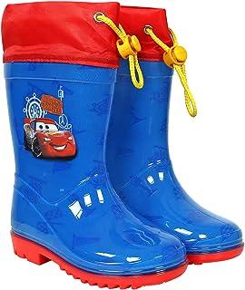 PERLETTI Stivaletti Impermeabili Bimbo Disney Pixar Cars - Stivali Pioggia Saetta McQueen con Dettagli Rossi - Scarponcini...