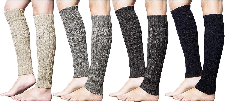 Loritta 4 El Paso Latest item Mall Pairs Women Knit Leg Long Warmers Winter Warm Soc Boot