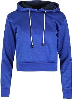 Women`s Pullover Plain Fleece Sweatshirt Long Sleeve Cropped Hoody