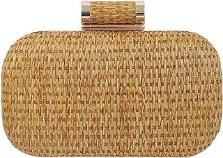 Raffia Straw Box Clutch